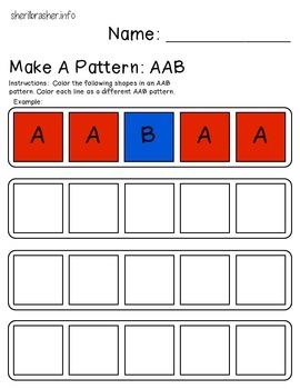 Make A Pattern: AAB