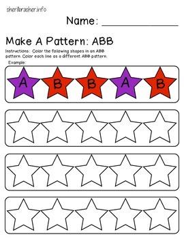 Make A Pattern: ABB