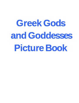 Make A Picture Book of The Ancient Gods