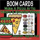 Make A Pizza Articulation -  BOOM Cards - Velars and Alveolar Stops (K, G, T, D)
