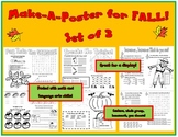 Make-A-Poster for FALL! Set of 3