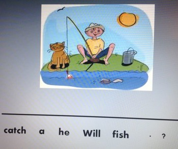 Make A Sentence 1 on interactive whiteboard