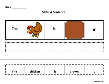 """Make A Sentence About """"Colors on the Farm"""" for Autism"""
