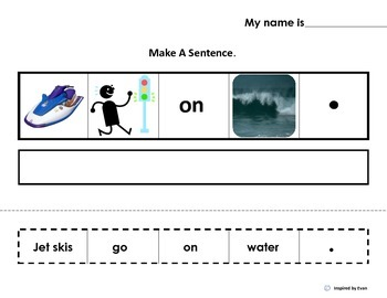 """Make A Sentence """"About Things that GO"""" for Autism"""