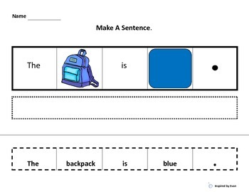 """Make A Sentence about """"Colors at School"""" for Autism"""