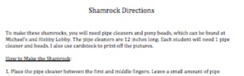 St. Patrick's Day: Sequencing and Retelling Activity