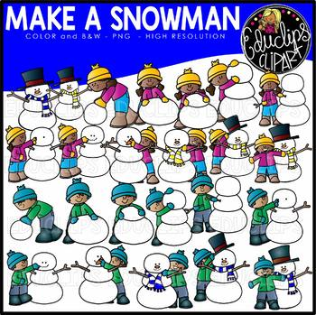 Make A Snowman Clip Art Set {Educlips Clipart}