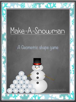 Make-A-Snowman Geometric Shapes Math Game