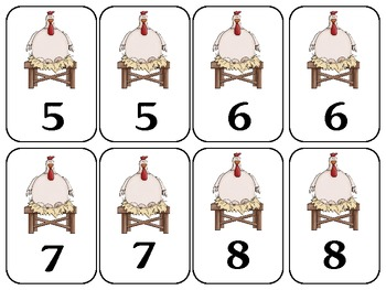 Make A Ten For Hen-10 Frame Addition Game