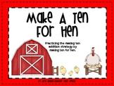 Make A Ten For Hen-10 Frame Addition Game