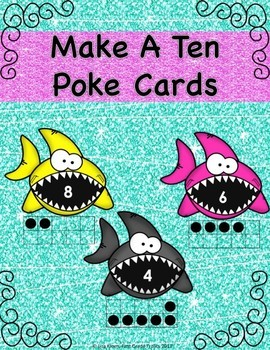 Make A Ten With Ten Frames Poke Cards