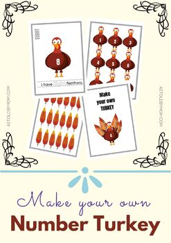 Make A Turkey - FUN Math Preschool, Kindergarten Activity