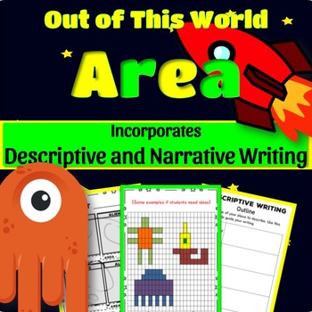 Area of Rectangles: Make Aliens, Find Their Area, and Write About Them! 4.MD.3