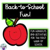 Back to School Engagement! Printables - Activities - No Pr