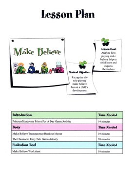 Make Believe With Children Lesson
