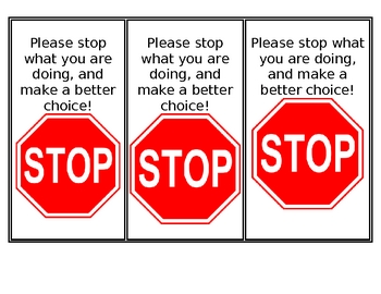 Make Better Choices notice
