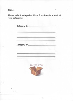 Make Categories and Words That Fit