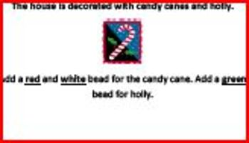 Make Christmas Necklace-Students Move Beads to Retell Story