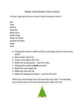 Make Christmas Trees in Microsoft Excel