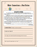 Make Connections (Non-Fiction) Reading Assessment (Editable)