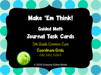 Make 'Em Think Coordinate Grid Journal Task Cards