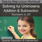 Unknowns in All Positions, Addition & Subtraction | Special Ed Math