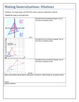 dilation worksheet teaching resources teachers pay teachers rh teacherspayteachers com 12-3 Study Guide and Intervention Solving Two-Step Equations Study Guide and Intervention Answer Key