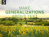 Make Generalizations about Text