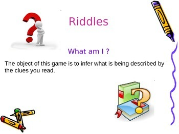 Make Inferences and Riddles Game!