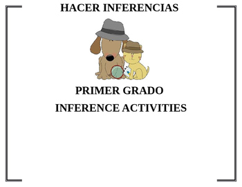 Make Inferences Spanish Hacer Inferencias Animal Themed cu