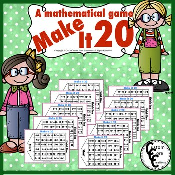 Make It 20 (A Mathematical Number Game)