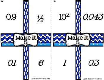 Make It 5 - Decimal Math Game (intermediate)