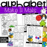 Make It Alphabet Letter Mats - Fine Motor Fun!