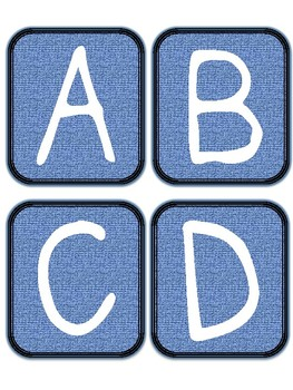 Make It Denim!  Bulletin Board Letters and Numbers