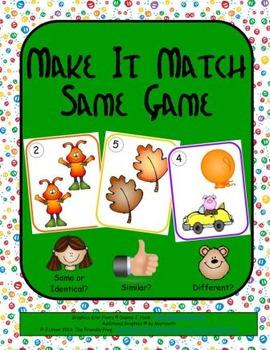 Make It Match: Same Game