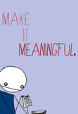 """FREE Poster: """"Make It Meaningful"""" classroom motivational display"""