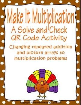 Make It Multiplication: A Thanksgiving Theme QR Code Activity