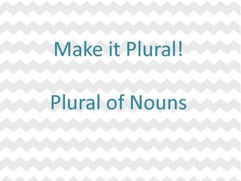 Make It Plural Scavenger Hunt - Nouns