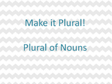 Make It Plural Scavenger Hunt - Nouns