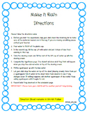 Make It Rain- A Take Home Science Experiment