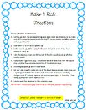 Make It Rain- A Take Home Science Experiment