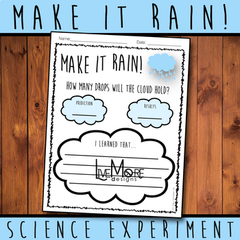 Make It Rain! Science Experiment Printable