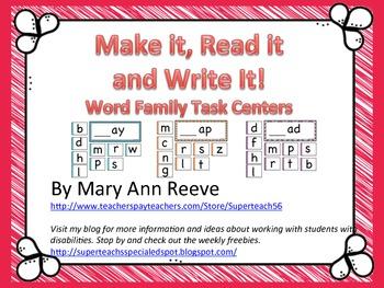 Make It Read It Write It: WORD FAMILIES