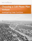 Make It Real: Choosing a Cell Plan - Verizon - Investigating Linear Functions
