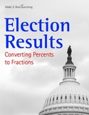 Make It Real: Election Results: Converting Percents to Fractions