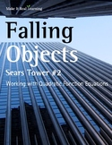 Make It Real: Falling Objects: Working with Quadratic Function Equations