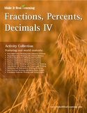Make It Real: Fractions Percents Decimals 4 - Activity Collection