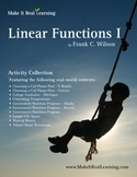 Make It Real: Linear Functions 1 - Activity Collection
