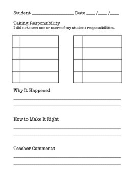 Make It Right: A Responsibility Behavior System/Plan for Student Self-Regulation