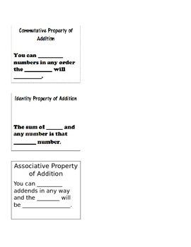 Make It Take It Properties of Addition